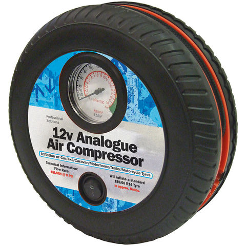 Image of Streetwize 12V Tyre Shape Tyre Inflator/Air Compressor