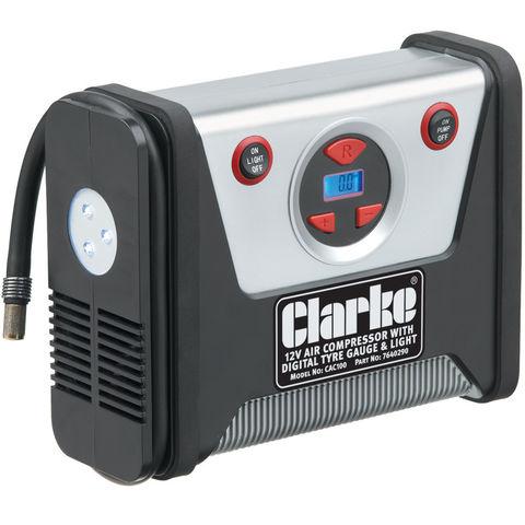 Image of Clarke Clarke CAC100 12V Tyre Inflator/Air Compressor