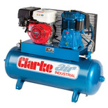 Clarke SP27C150 150l Petrol Stationary Air Compressor