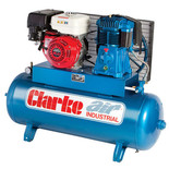 Clarke SP27EC150 23cfm, 150ltr Petrol Stationary Air Compressor
