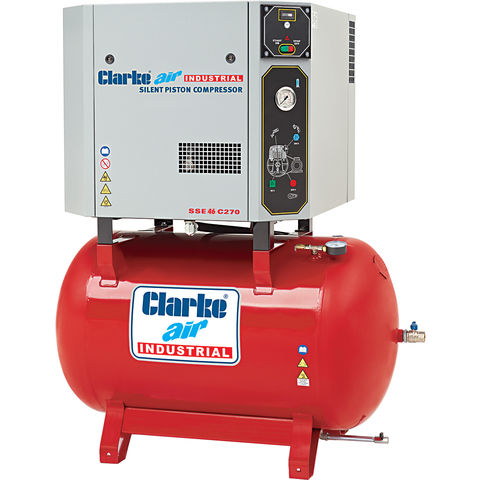 Image of Clarke Clarke SSE46C270 10hp 270 Litre Silenced Reciprocating Air Compressor