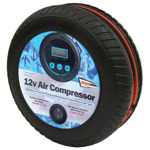 Image of Streetwize Streetwize Tyre Shape 250psi Digital Air Compressor