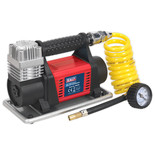 Sealey 12V Heavy-Duty Tyre Inflator/Mini Air Compressor 4.5m Hose