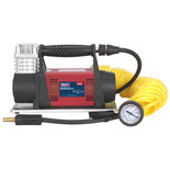 Sealey 12V Heavy-Duty Tyre Inflator/Mini Air Compressor 7.5m Hose