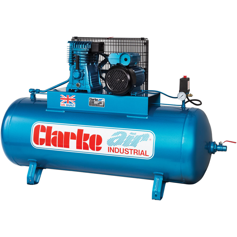 Clarke XE18/200 (WIS) 3 phase Air Compressor (400V) - Machine Mart ...