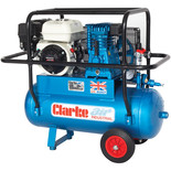 Clarke XPPH15/50 15cfm 50Litre 6.5HP Portable Petrol Air Compressor with Cage