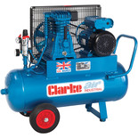 Clarke XEP15/50(OL) 14cfm 50Litre 3HP Portable Industrial Air Compressor (230V)