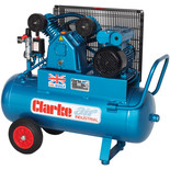 Clarke XEPV11/50 (OL) 9cfm 50Litre 2HP Portable Industrial Air Compressor (230V)