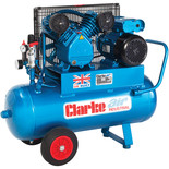 Clarke XEPV16/50 (OL) 14cfm 50Litre 3HP Portable Industrial Air Compressor (110V)