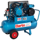 Clarke XEPV16/50 (OL) 14cfm 50Litre 3HP Portable Industrial Air Compressor (230V)