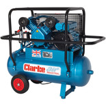 Clarke XEPVH16/50 (OL) 14cfm 50Litre 3HP Portable Industrial Air Compressor with Cage (230V)