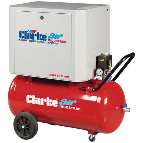 Image of Clarke Clarke SSE15C100 3hp 100Ltr Low Noise Reciprocating Air Compressor