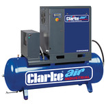 Clarke CXR20RD 65.3cfm 500Litre 20HP Industrial Screw Compressor with Air Receiver & Dryer  (400V)