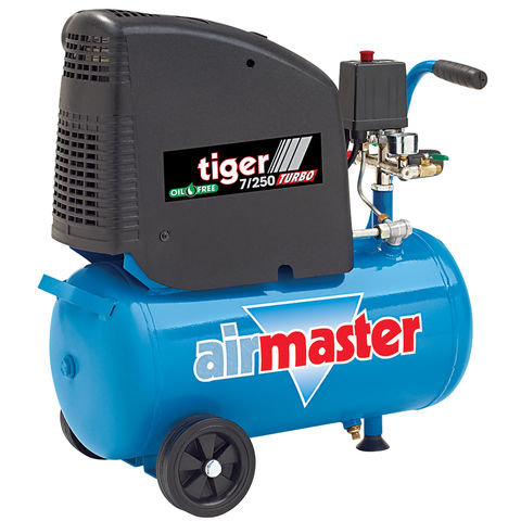 Image of Airmaster Airmaster Tiger 7/250 2HP 24 Litre Oil Free Air Compressor