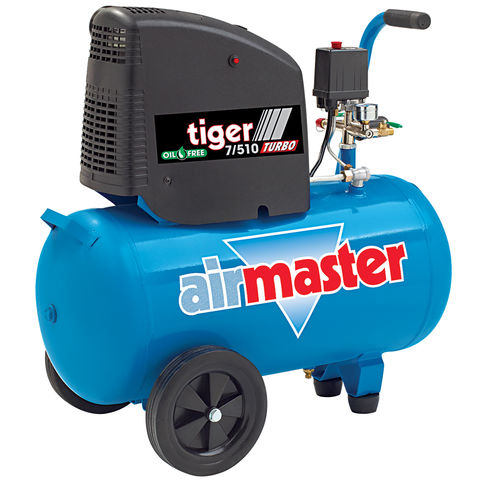 Image of Airmaster Airmaster Tiger 7/510 2hp 50 Litre Oil Free Air Compressor