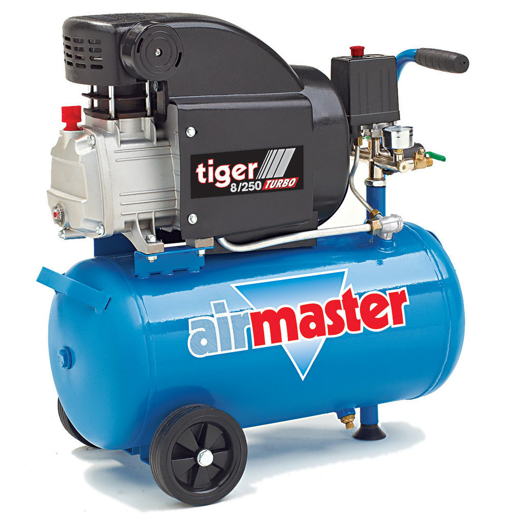 Airmaster Tiger 8/250 2hp 24 Litre Air Compressor - Machine