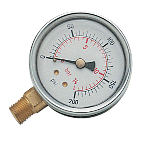 "Image of Clarke 1/4"" BSP Bottom Connection Gauge"