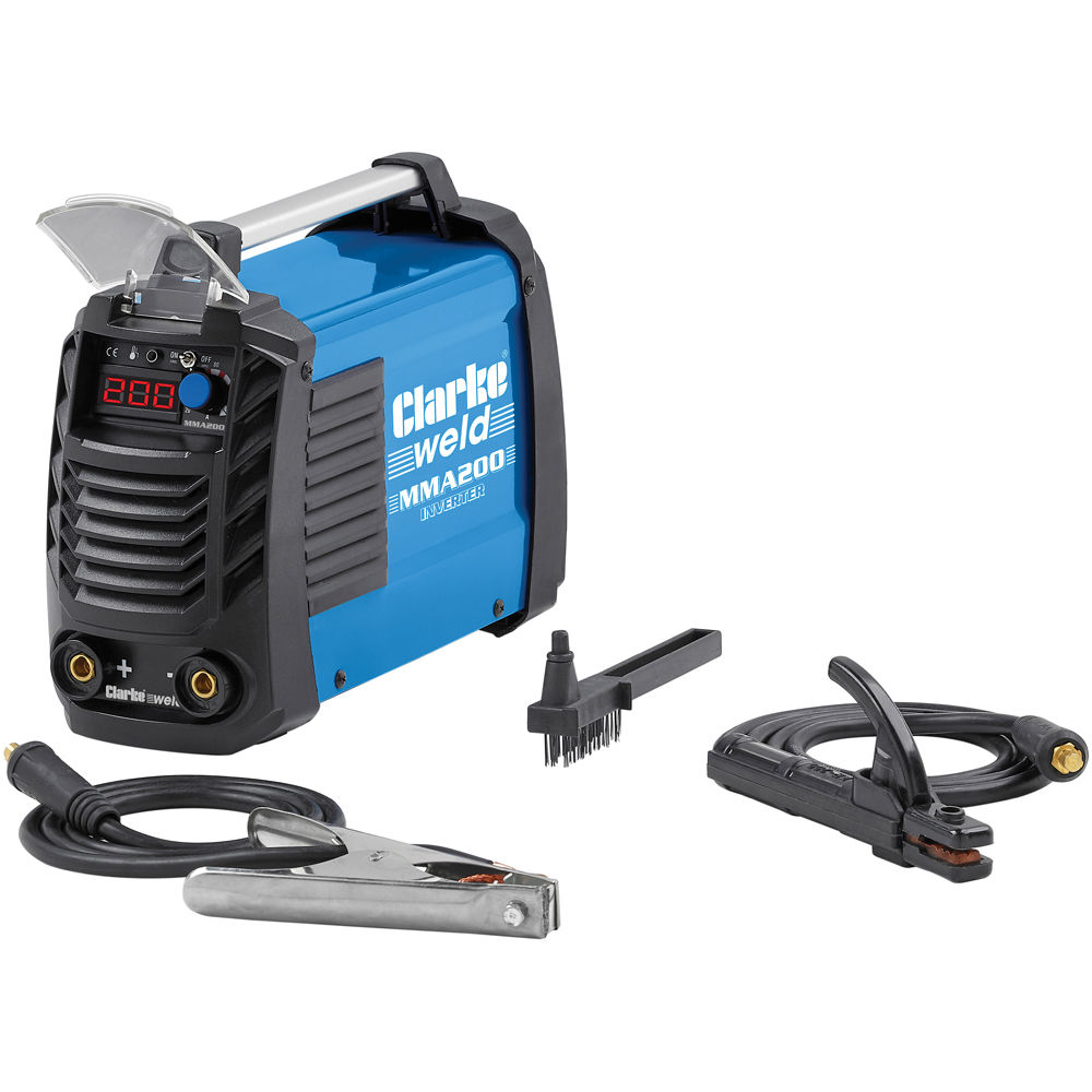 Clarke MMA200 ARC/MMA Inverter Welder - Machine Mart