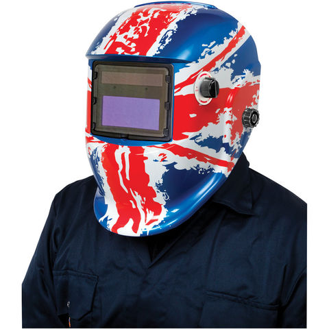 Photo of Clarke clarke gwh7 arc activated grinding/welding headshield union flag design