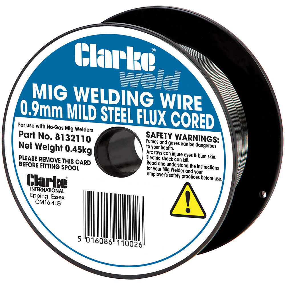 Flux Core Welding Wire >> Clarke Flux Cored Welding Wire 0 9mm 0 45kg Machine Mart