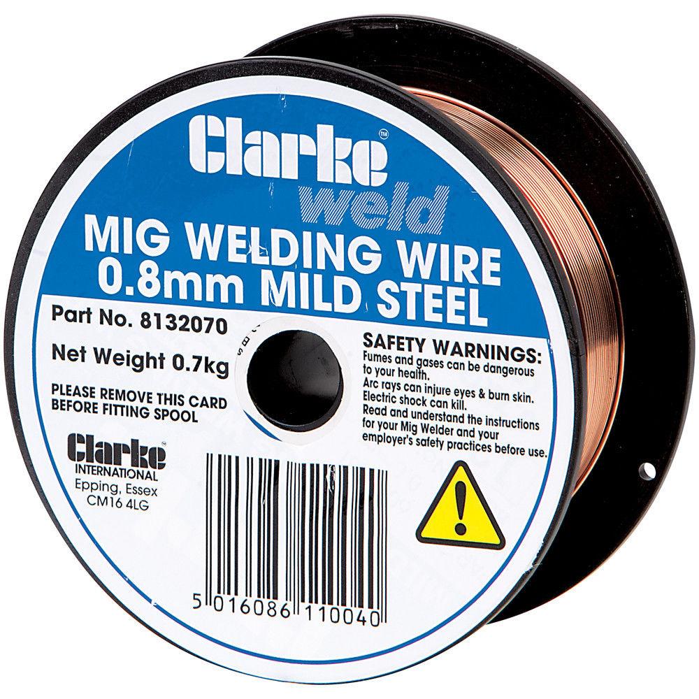 Clarke Mild Steel Welding Wire 0.8mm 0.8kg - Machine Mart - Machine Mart
