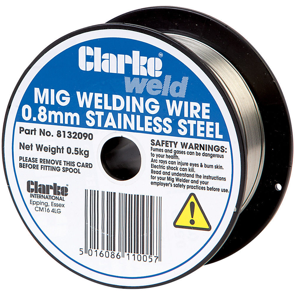 Clarke MIG Stainless Steel Welding Wire 0.8mm - 0.5kg - Machine Mart ...
