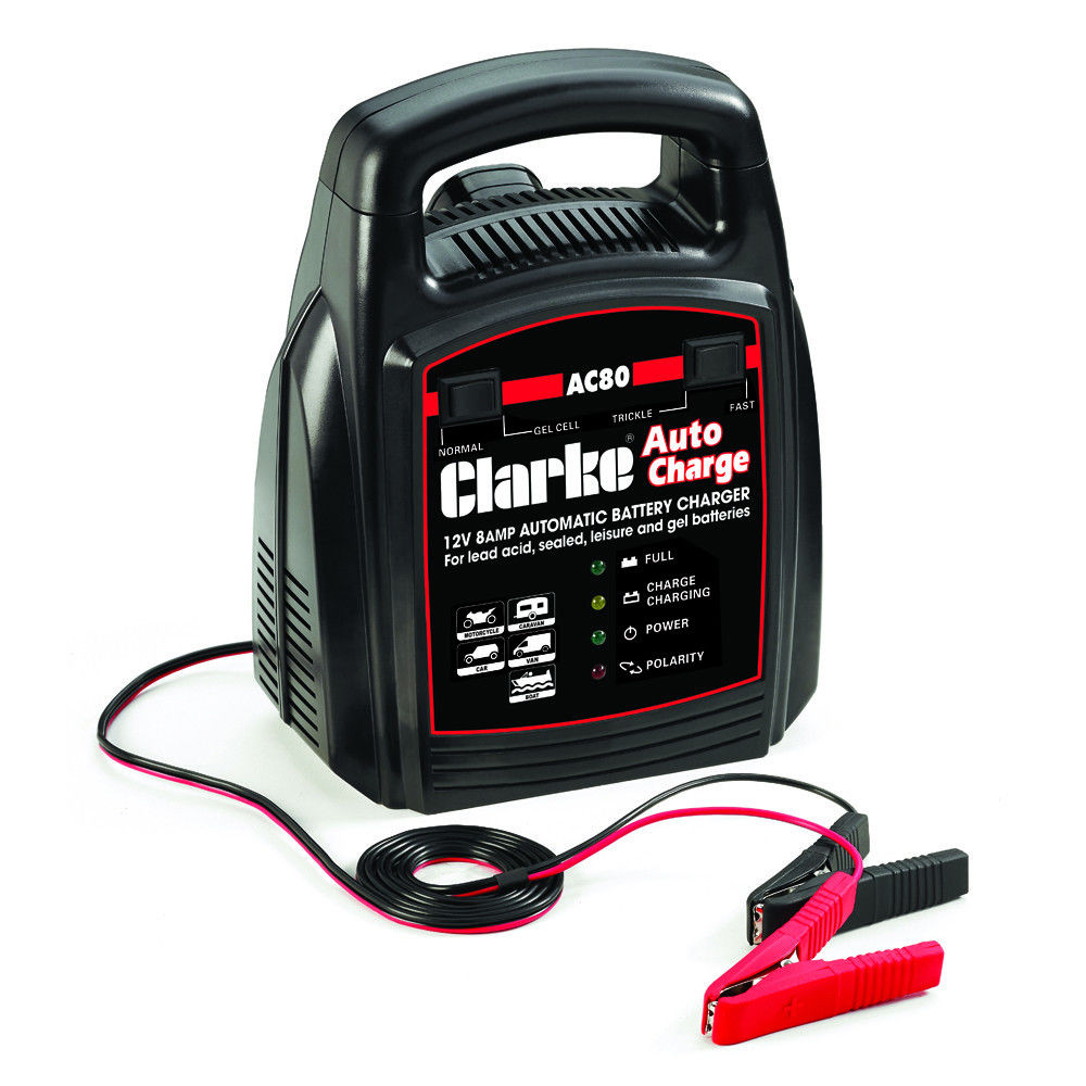 Car Battery Chargers Engine Starters Machine Mart Chager Baterai Bm 038 Clarke Ac80 12v 8a Automatic Charger
