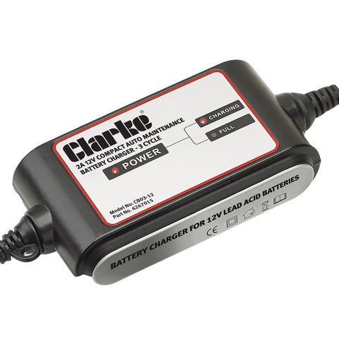 Image of New Clarke CB03-12 2A Auto Battery Charger/Maintainer – 3 Stage