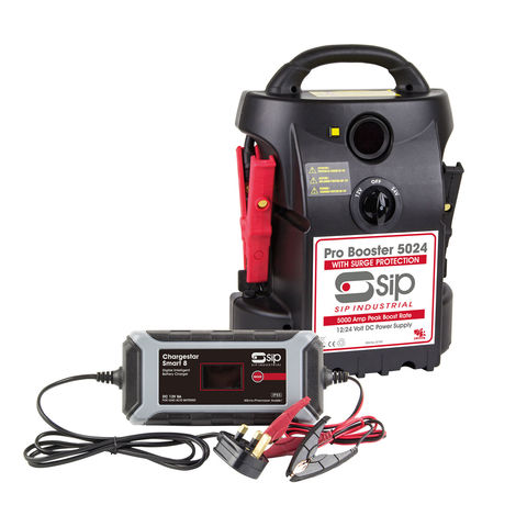 Image of SIP SIP 12V/24V 5024 Pro Booster & Chargestar Smart 8 Battery Charger
