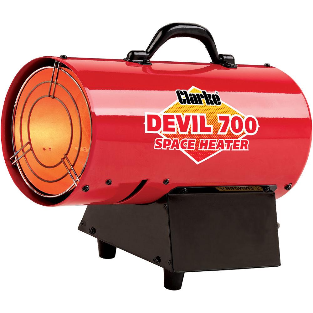 clarke devil 700 propane fired space heater - Propane Space Heater