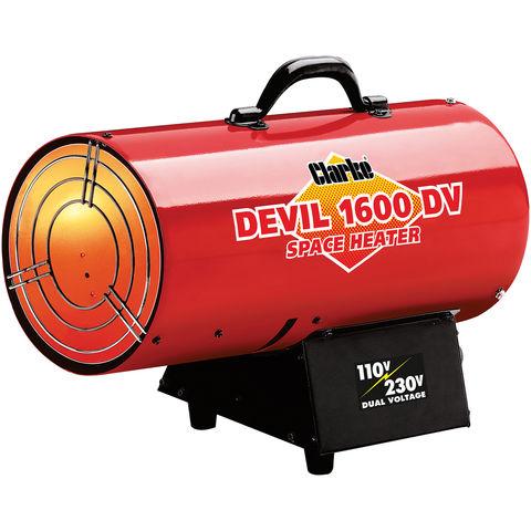 Image of Clarke Clarke DEVIL1600DV Dual Voltage 110/230V Gas Heater