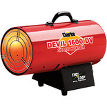 Clarke DEVIL1600DV Dual Voltage 110/230V Gas Heater