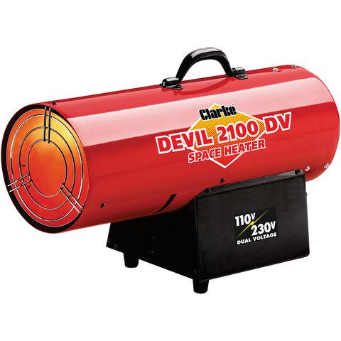 Image of Clarke Clarke DEVIL2100DV Dual Voltage 110/230V Gas Heater