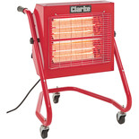 Clarke Devil 371SP Quartz Halogen Infra-red Heater with Swivel Head (110V)