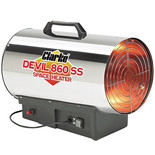 Clarke Devil 860 SS Stainless Steel Gas Heater