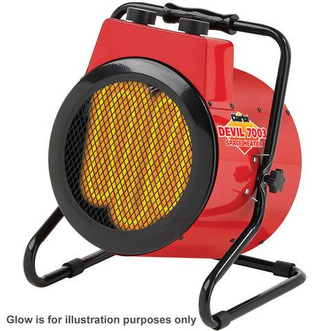 clarke devil 7003 3kw industrial electric fan heater. Black Bedroom Furniture Sets. Home Design Ideas