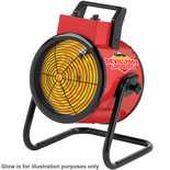 Clarke Devil 7009 9kW Industrial  Electric Fan Heater (400V)