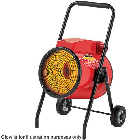 Image of 400Volt 3 Phase Clarke Devil 7015 15kW Industrial Electric Fan Heater
