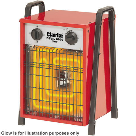 Image of 400Volt 3 Phase Clarke Devil 6005 5kW Industrial Electric Fan Heater
