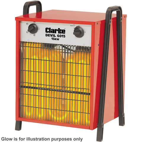 Image of 400Volt 3 Phase Clarke Devil 6015 Industrial Electric Fan Heater (400V)