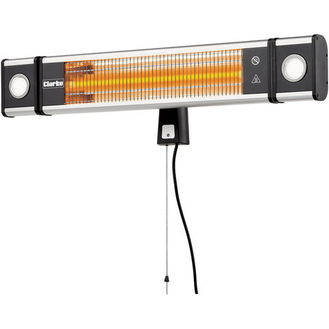 Image of Clarke Clarke CFI1800L 1800W Carbon Fibre Infrared Wall Heater With LED Lights