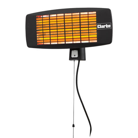 Image of Clarke Clarke IQ2000 2kW Infrared Quartz Wall Heater