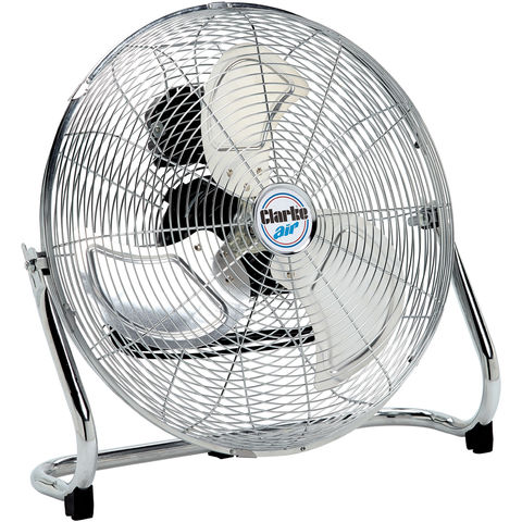 "Image of Clarke Clarke CFF18C100 18"" High Velocity Chrome Floor Fan"