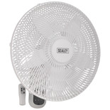 "Sealey SWF18WR 18"" 3-Speed Wall Fan with Remote Control"