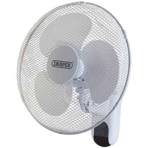 "Image of Draper Draper FAN7B 16"" Wall Mounted Remote Control Fan (230V)"