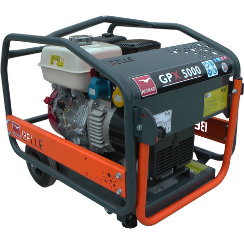 Image of Altrad Belle Altrad Belle GPX 5000 CTE Honda Petrol Powered Generator with Wheel Kit (110V)