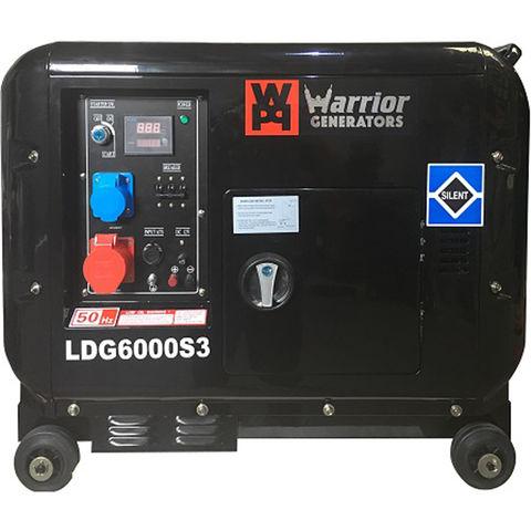Image of Warrior Warrior LDG6000S3 6kVA 3 Phase Silent Diesel Generator