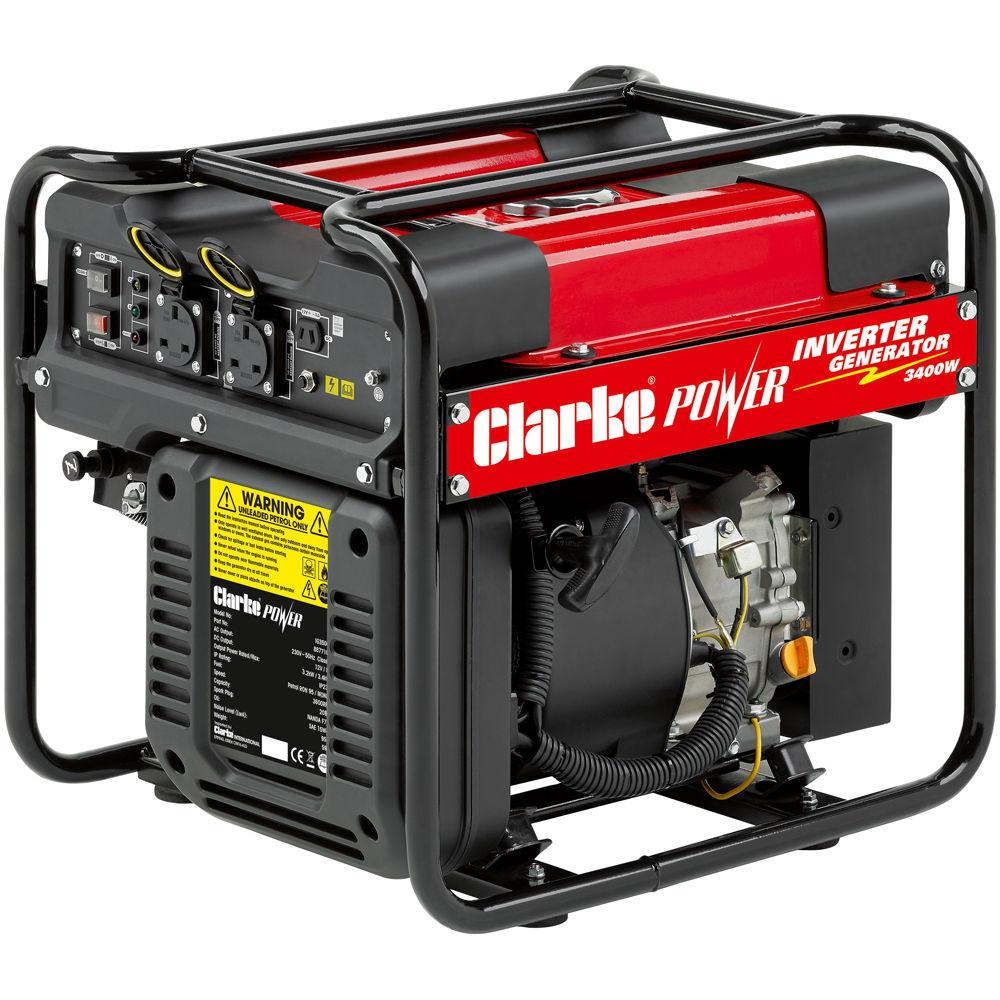 Clarke IG3500F 3 4kW Open Frame Inverter Generator - Machine Mart
