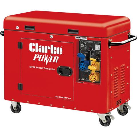 Image of Clarke Clarke DG6000DVES 5kVA Diesel Generator
