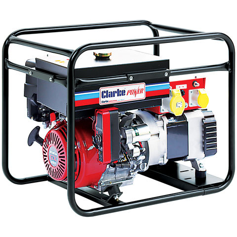 Image of Clarke Clarke CP6550NESLR 6.5kVA Long Run Electric Start Frame Mounted Generator